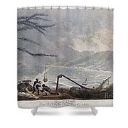 St. Thomas: Hurricane, 1819 Shower Curtain