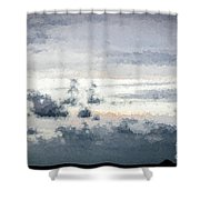 St Thomas - Sunset Over A Small Island Shower Curtain