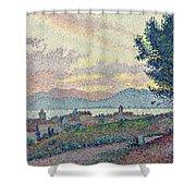 St Tropez Pinewood Shower Curtain