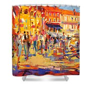 St Tropez Promenade Shower Curtain