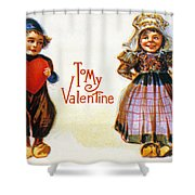 St. Valentines Day Card Shower Curtain