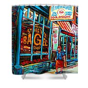 St. Viateur Bagel Bakery Shower Curtain