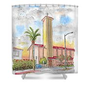 St. Victor's Catholic Church, West Hollywood, Ca Shower Curtain