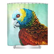 St. Vincent Parrot Shower Curtain