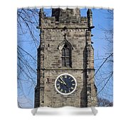 St Wystan's Bell Tower Shower Curtain