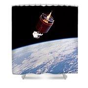 Stabilizing Spacecraft Shower Curtain
