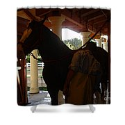 Stable Groom - 2 Shower Curtain