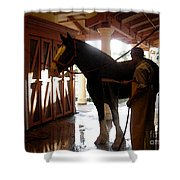 Stable Groom - 1 Shower Curtain