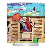 Stable Of Artists Shower Curtain