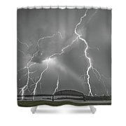 Stack 1 Shower Curtain