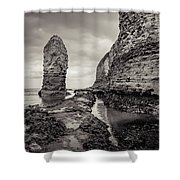 Stack And Chalk Cliff Shower Curtain