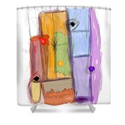 Stack Shower Curtain