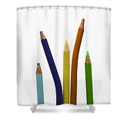 Stack Of Colored Pencils Shower Curtain