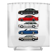 Stack Of Mercedes Benz W124 E-class Shower Curtain