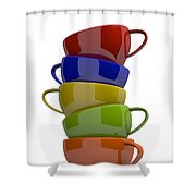 Stacked Cups Shower Curtain
