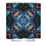 Stacked Kaleidoscope Shower Curtain