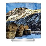 Stacked Mountains  Shower Curtain