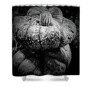 Stacked Pumpkins Shower Curtain
