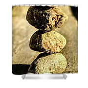 Stacked Rocks Shower Curtain