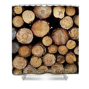 Stacked Timber Two Shower Curtain
