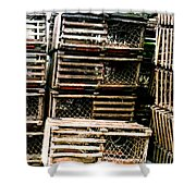 Stacked Traps Shower Curtain