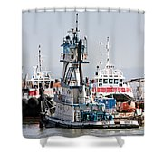 Stacy T Docking Shower Curtain