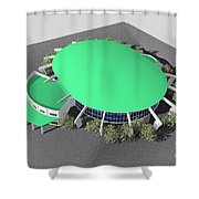 Stadium Model Shower Curtain