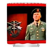 Staff Sergeant Barry Sadler Singing On National Tv - Ed Sullivan Show 1966-2016 Shower Curtain