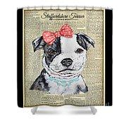 Staffordshire Terrier-jp3857 Shower Curtain