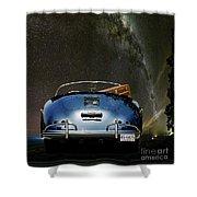 Star Gazing,1955 Porsche 356a 1600 Speedster, Under The Milky Way Shower Curtain