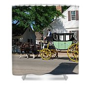 Stage Coach Shower Curtain