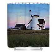 Stage Harbor Light Cape Cod Shower Curtain