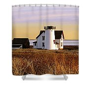 Stage Harbor Lighthouse Chatham Shower Curtain