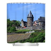 Stahleck Castle In The Rhine Gorge Germany Shower Curtain