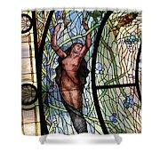Stain Glass Set 3 - Bath House - Hot Springs, Ar Shower Curtain
