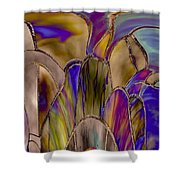 Stained Glass Abstract Shower Curtain