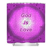 Church Glass Abstract Design Shower Curtain