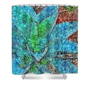 Stained Glass Agave Two  Shower Curtain
