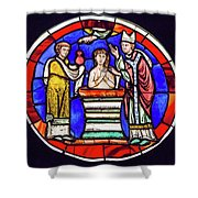 Stained Glass - Baptism - Musee De Cluny Shower Curtain