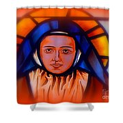 Stained Glass Beauty #66 Shower Curtain
