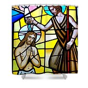 Stained Glass Beauty #9 Shower Curtain