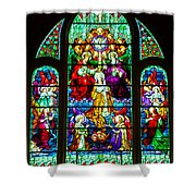 Stained Glass Shower Curtain