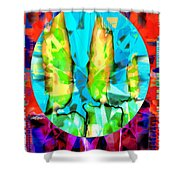 Stained Glass Candles Shower Curtain