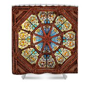 Stained Glass Ceiling Window Shower Curtain
