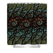 Stained Glass Floral I Shower Curtain