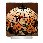 Stained-glass Lampshade Shower Curtain by Suhas Tavkar