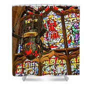 Stained Glass Lantern And Window Shower Curtain