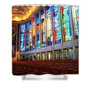 Stained Glass Of St Josephs, Hartford Shower Curtain