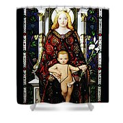 Stained Glass Of Virgin Mary Shower Curtain