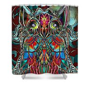 Stained Glass Owl  Shower Curtain
